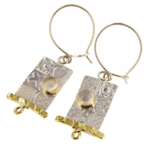 Matching medium silver earrings